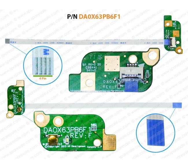 Power Button For HP Probook 450-G3, 470-G3, 455-G3, DA0X63PB6F1