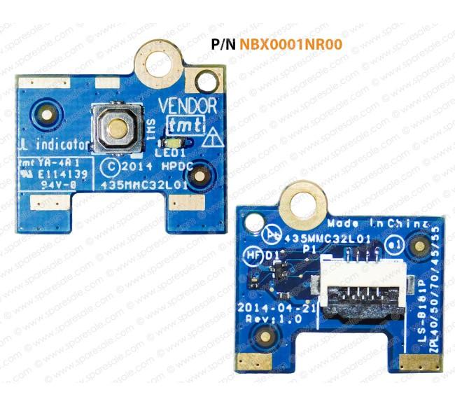 Power Button For Hp Probook 450-G2, 455-G2, 440-G2, 445-G2, 470-G2, LS-B181P