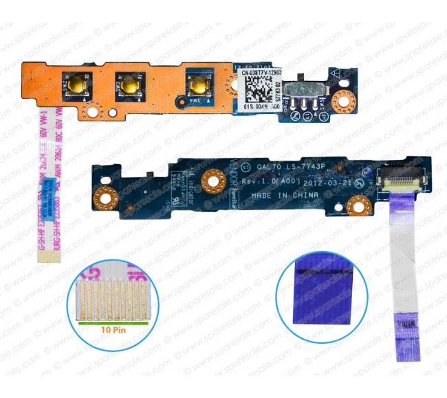 Power Button For Dell Latitude E6330, E6430s LS-7743P, 38T7V, QAL70