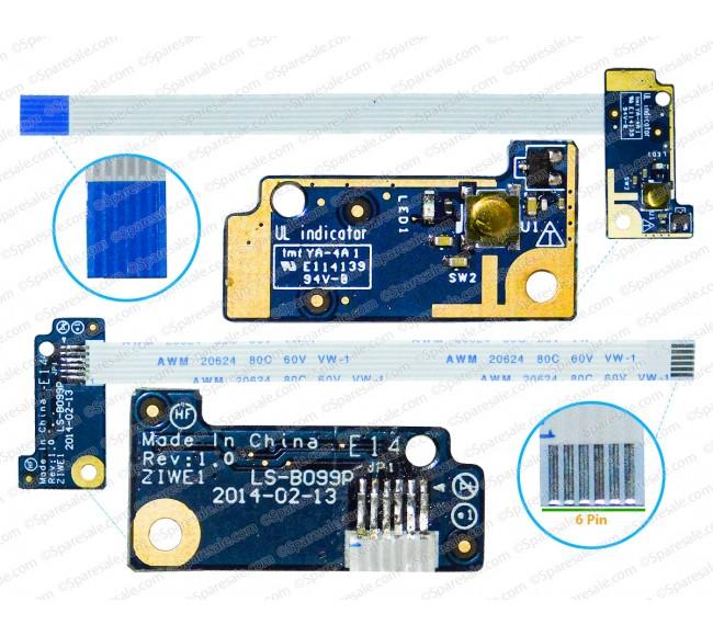 Power Button For Lenovo E40, E30, E40-30, E40-70, E40-45, E40-80, ZIWE1, LS-B099P