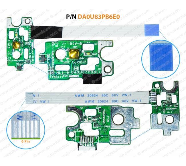 Power Button HP Pavilion 15-N, 15-F, 14-N SERIES DA0U83PB6E0