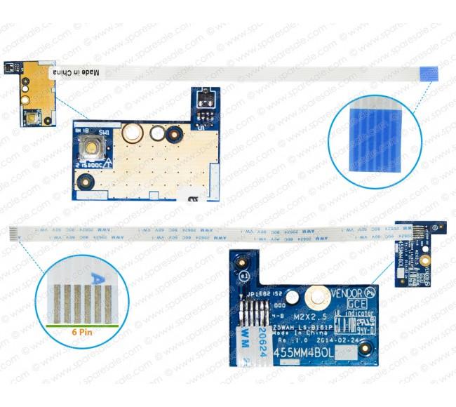Power Button For Acer Aspire E5-521, E5-571, E5-511, E5-551, V3-572, LS-B161P