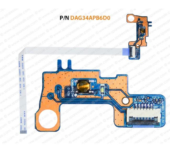 Power Button For HP  Pavilion 15-AU, 15T-AU, 15-AW, 15Z-AW, DAG34APB6D0