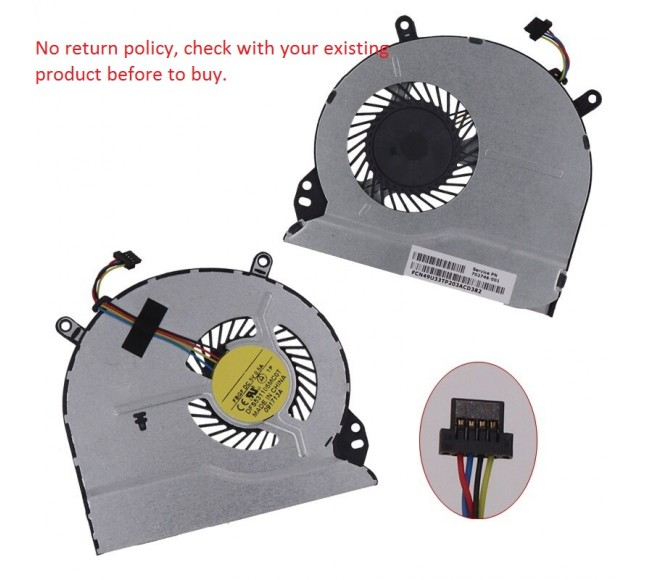 Fan For SLEEKBOOK Pavilion 14-B, 14-W, 15-B, 16-B, 17-B
