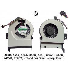 Fan For ASUS X55V, X55A, X55C, X55U, X55VD, X45C, X45VD, R500V, K55VM