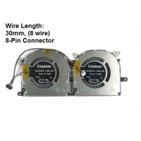 Fan For Lenovo Ideapad Yoga 13 TC102-11001 EG50040V1-C06C-S9A Wire Length: 30mm, (8 wire) 8-Pin Connector