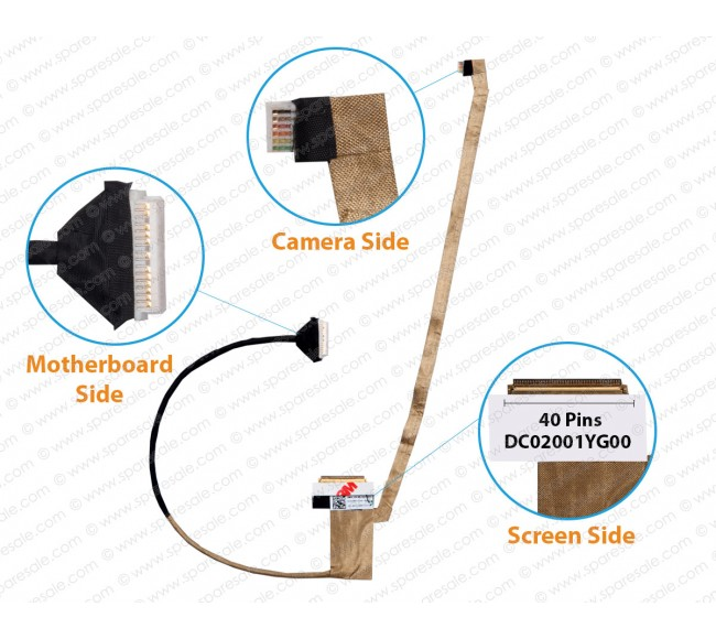 Display Cable For Toshiba Satellite C55-B, C55T, C55D-B, C50D, C55T-B