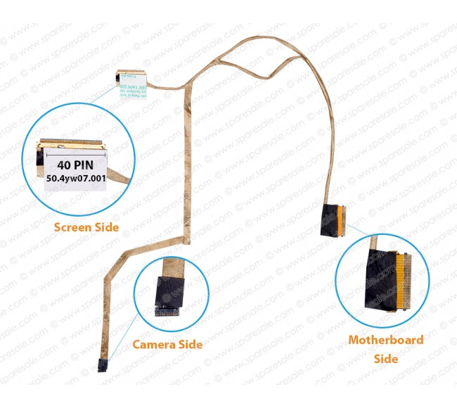 Display Cable For HP ProBook 440-G1, 445-G1, 721510-001, 50.4YW07.011, 50.4YW07.001 LCD LED LVDS Flex Video Screen Cable