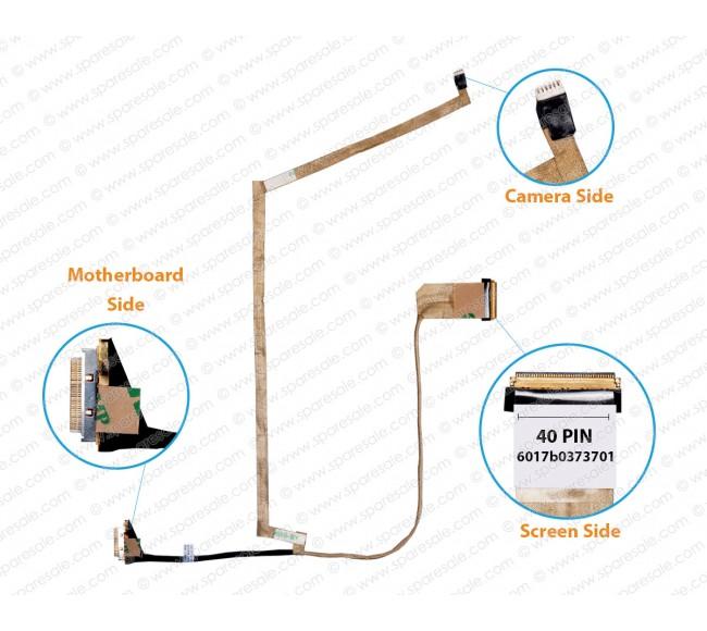 Display Cable for HP Pavilion 2000, 240, 245, 250-G0, 250-G1, 255-G1, CQ58, 2000-2A, 2000-2B, 2000-2C, 2000-2D, CQ58-200, CQ58-B, CQ58-C,6017B0373701, 689690-001, 689677-001, 720510-001 LCD LED LVDS Flex Video Screen Cable