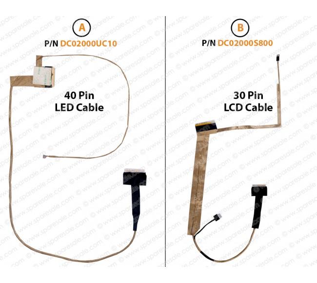 Display Cable for Toshiba Satellite L500, L505, L500D, L505D