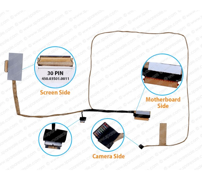 Display Cable For Lenovo Yoga 500-15IBD, 500-15IHW, Flex3-1580, Flex3-1570
