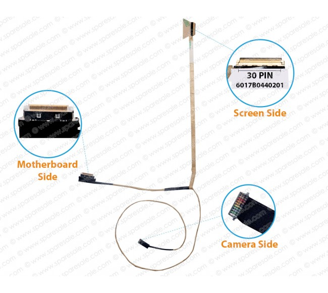 Display Cable for HP Probook 655-G1, 650-G1, 640-G1, 645-G1, 6017B0440201