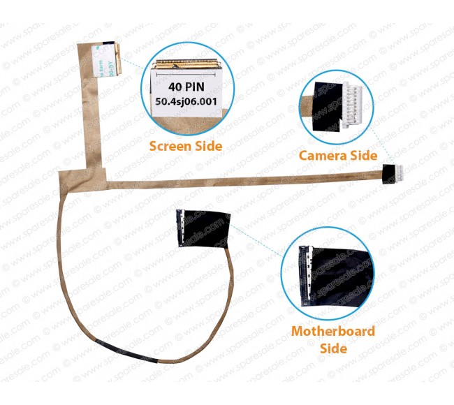 Display Cable for HP Probook 4540S, 4570S, 4730S, 4545S, 50.4sj06.001
