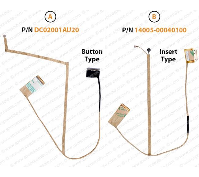 Display Cable For ASUS K43, X43, A43, P43, X44H, K84L, X84, A83, A84