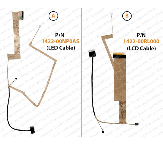 Display Cable For Asus K52, K52F, K52JR, K52JE, K52N, A52, A52F, A52JB, X52, A52J