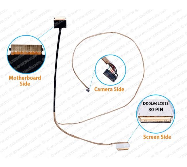 Display Cable For Lenovo V310-14IKB V310-14ISK DD0LV6LC013
