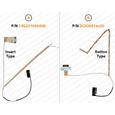 Display Cable For ASUS k53 X53 A53 14g221036000 DC02001av20