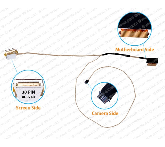 Display Cable For DELL Vostro 13-5370, 13-V5370, 13-5370, CN-0D974D