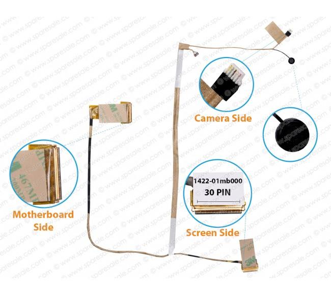Display Cable For Asus X550LC, X550LD, X550LA,X550LB, Y581L, K550LA, 1422-01mb000