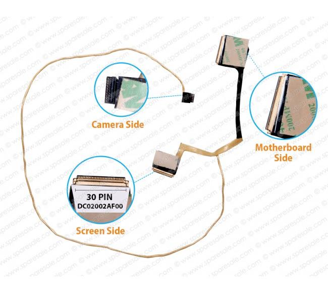 Display Cable For HP ENVY 13-D, 13-D023TU, 13-D056TU, DC02002AF00