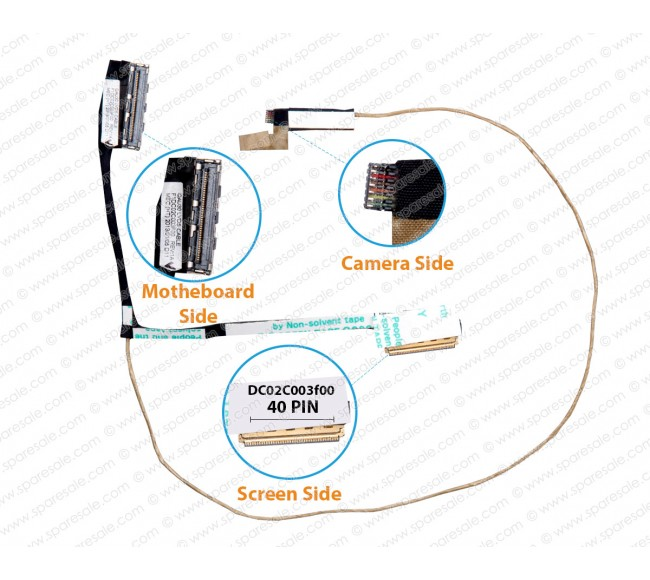 Display Cable For HP Envy4-1000, Envy4-Vcu60, DC02C003F00