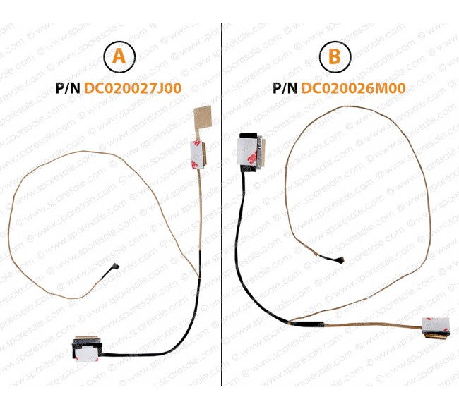 Display Cable For HP 15-AC, 15-AY, 15-AF, 250-G4, 255-G4, 250-G5, DC020027J00, DC020026M00