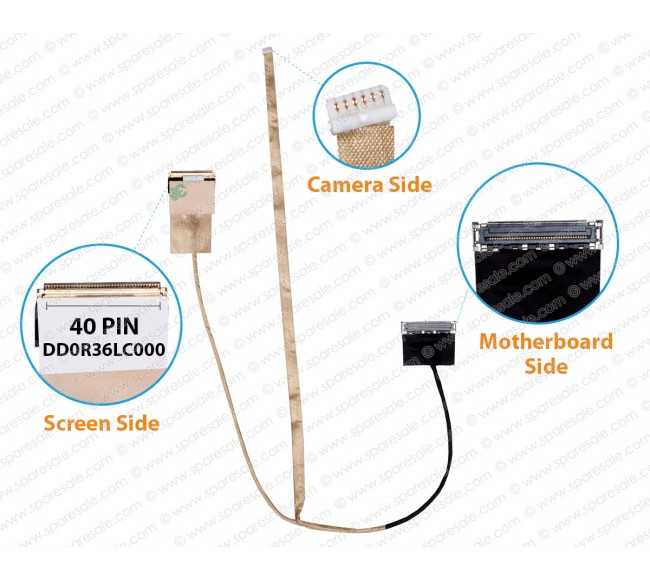 Display Cable ForHP Pavilion G6-2000, G6-2238DX, DD0R36LC000
