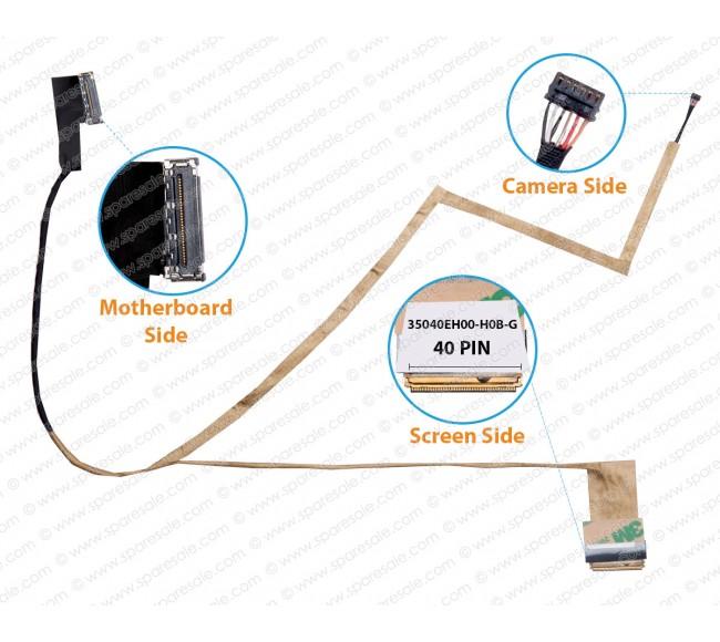 Display Cable For HP 15-D 15-D038DX 15-D035DX 15-D000 CQ15-A CQ14-A 14-D 35040EH00-H0B-G