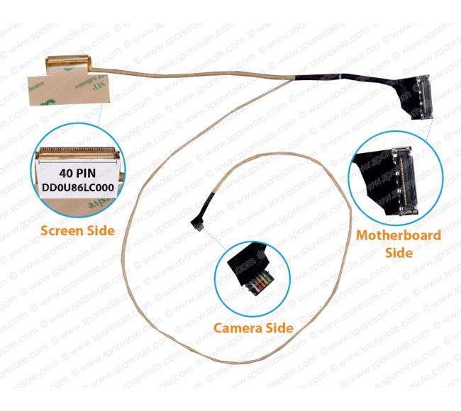Display Cable For HP Pavilion 15-n 15-f DD0U86LC000
