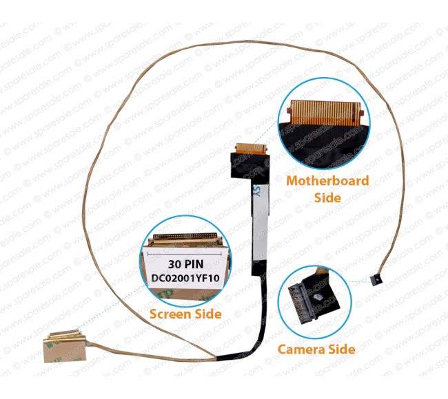 Display Cable For Lenovo IdeaPad 320-15IAP 320-15IABR 320-15AST,320-15ABR,330-15IKB LCD Cable DC02001YF10 ( 30 Pin ) ( Non Touch)