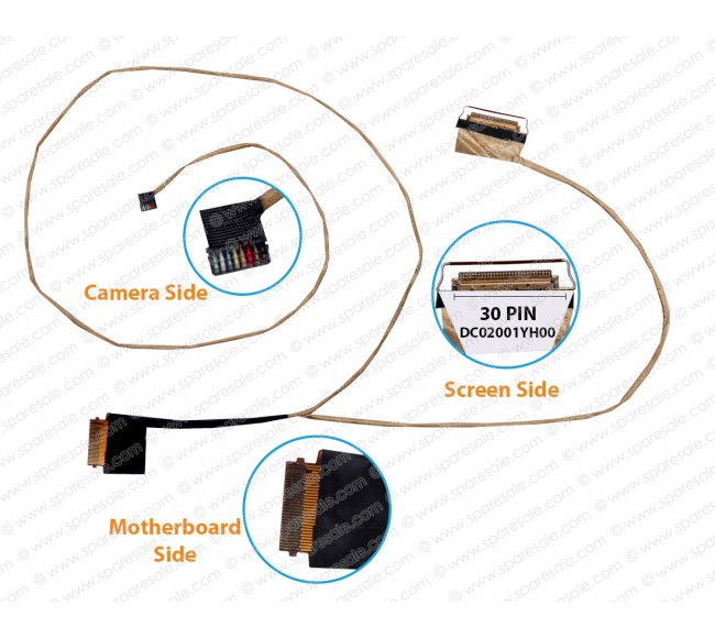 Display Cable For Lenovo Ideapad 320-17IKB 320-17ISK 320-15 DG721 DC02001YH00 Non-Touch Screen