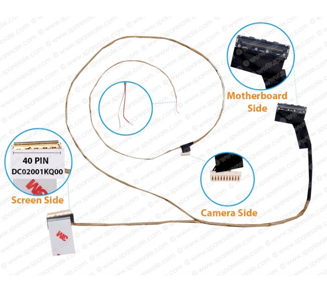 Display Cable For LENOVO THINKPAD E431 E531 DC02001KQ00 Non-Touch Screen