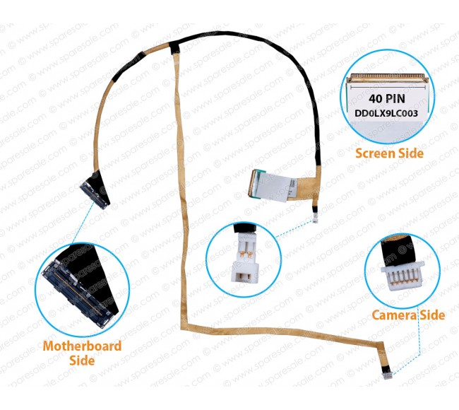 Display Cable For HP Pavilion DV7-4000 DV7T-5000 DD0LX9LC003