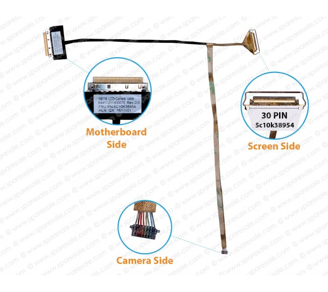 Display Cable For Lenovo Ideapad 100S-11IBY 64411201800070 5c10k38954