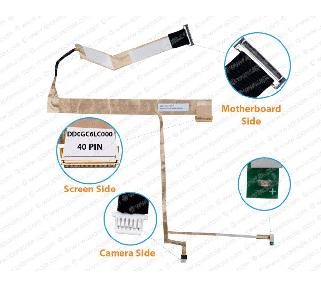 Display Cable For Lenovo Thinkpad Edge 15-E50 DD0GC6LC000 63Y2206
