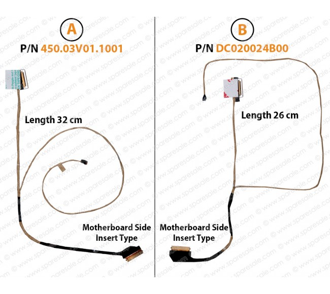 Display Cable For DELL Inspiron 14-3451 3452 3458 3459 3878 5452 5458 5459 450.03V01.1001 DC020024B00 03CMJM