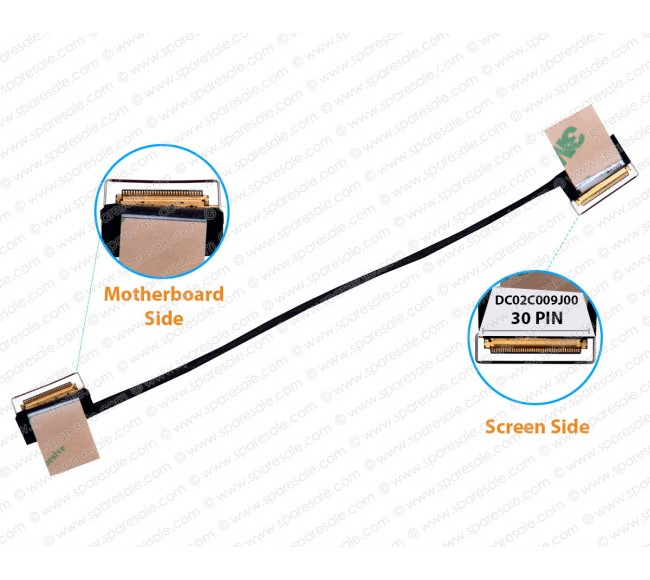 Display Cable For Lenovo ThinkPad CT470 EDP, T470, A475, SC10G75185, DC02C009J00, DC02C009J10 30 PIN