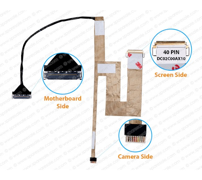 Display Cable For Dell Latitude E7270 AAZ50 02K2J9 DC02C00AX10 ( Touch Screen )