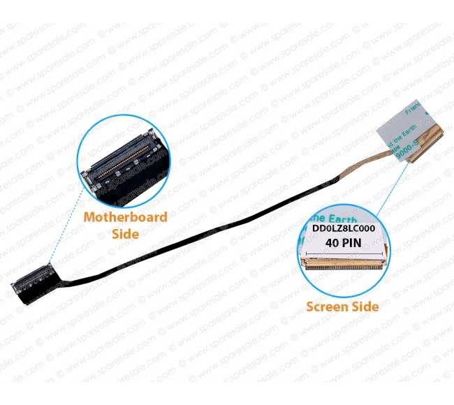 Display Cable For LENOVO Ideapad U410 U310a U310 LZ8 DD0LZ8LC000