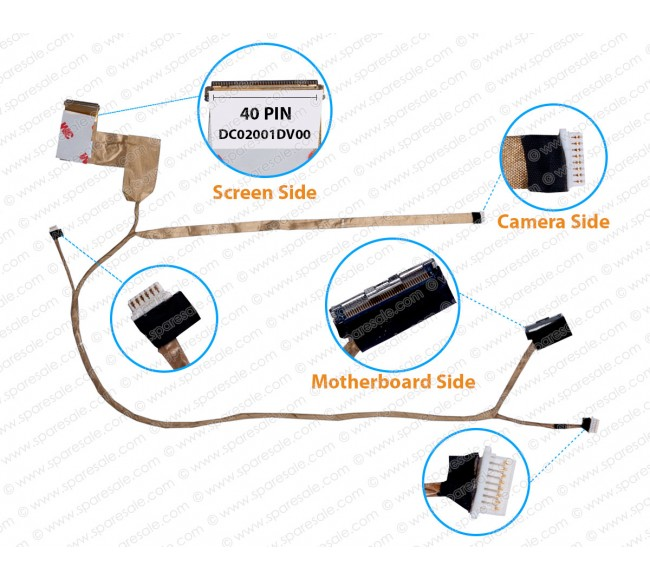 Display Cable For Dell Latitude E6430 QAL80 0N1XP DC02001DV00