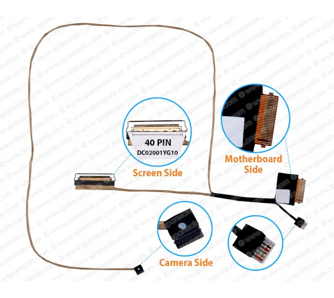 Display Cable For Lenovo IdeaPad 320-15IKB 320-15 DG521 DC02001YG10 40pin touch cable