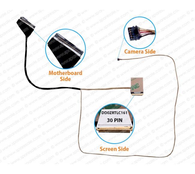 Display Cable For Acer Aspire E5-522, E5-532, E5-532G, E5-573, E5-573G, E5-553, E5-553G, ZRT, DD0ZRTLC161 30 Pin Non-Touch Screen