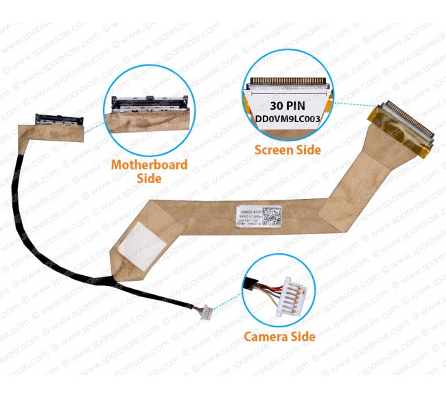 Display Cable For Dell Vostro A860 1410 A840 PP37L 0j986h DD0VM9LC003