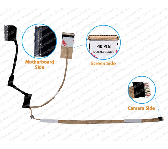 Display Cable For Dell Latitude E5430 DC02C002M00 qxw00 0MJ9Y6