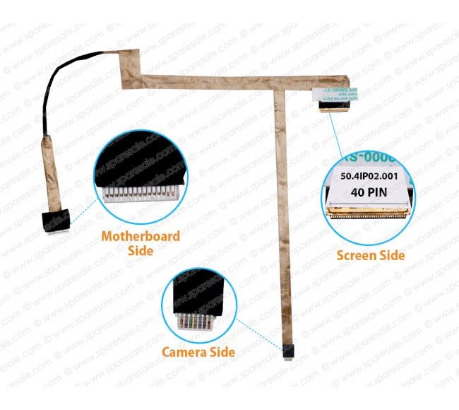 Display Cable For Dell Inspiron 3520 N5040 N5050 M5040 V1540 V1550 50.4IP02.001
