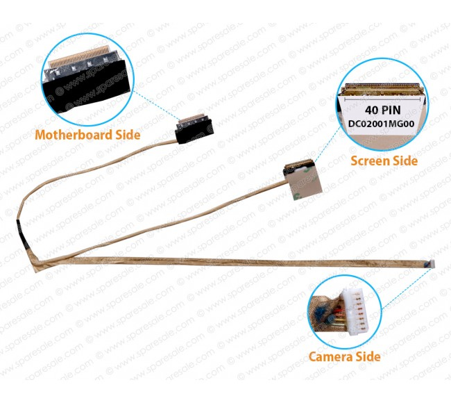 Display Cable For Dell Inspiron 3521 3537 5521 3540 V2521D 5535 5537 DC02001MG00 0DR1KW