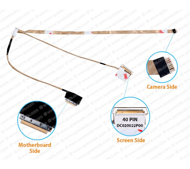 Display Cable For Dell Inspiron 15-3531 5JWND DC020022P00