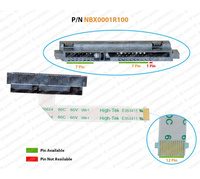 HDD Cable For Dell Inspiron 17-5000, 17-5755, 17-5758, 17-5759, NBX0001R100, 00KT1K