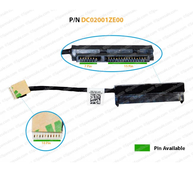 HDD Cable For Dell Latitude 3450 023JGP 23JGP ZAL50 DC02001ZE00 Hdd cable