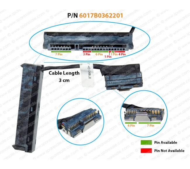 HDD CABLE FOR HP PROBOOK 2000, 1000, Series 450-G1, 455-G1, 640-G1, 650-G1, 645-G1, 655-G1, 255-G1, 250-G1, HP Compaq Presario CQ58, CQ45, 6017B0362201